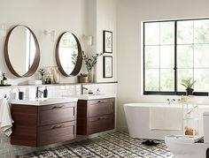 GODMORGON/ODENSVIK meuble pour lavabo, 2 tiroirs, effet noyer noyer
