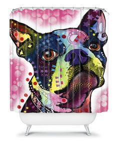 Take a look at this Boston Terrier Shower Curtain by DENY Designs on #zulily today!