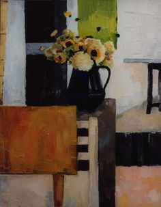 nature morte sur la véranda, BENEDICTE GARNIER FIHEY #paintings