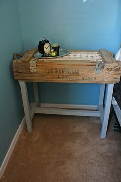 ammo box side table