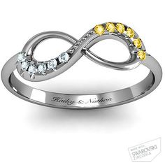 Mother's ring ... Infinity Accent Ring