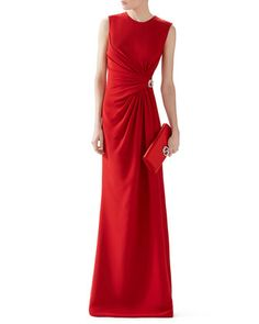 Silk Cady Ruched Front Gown by Gucci at Neiman Marcus.