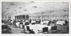 First class dining saloon and other notable areas of the ship.
