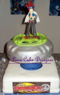 beyblade cake with gingka