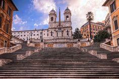 Spanish Steps in Rome, via Flickr.