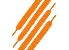 Paire de lacets orange fluo