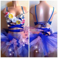 EDC inspired Daisy Flowers rave outfit with by lipglosswear, $125.00
