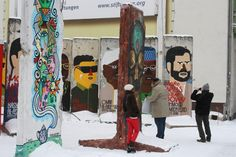Street art on pieces of the Berlin Wall