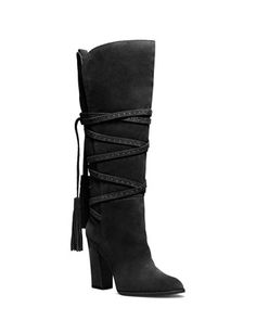 Michael Kors Jessa Wrap-Around Tassel Boot.