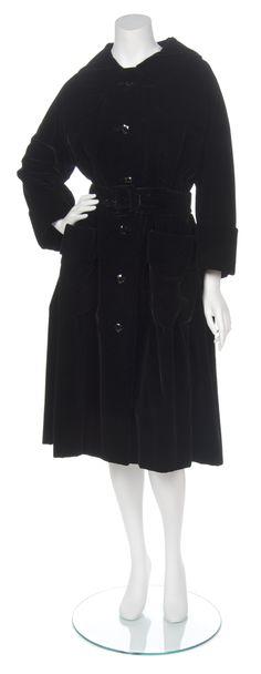 A Christian Dior Couture Black Velvet Coat
