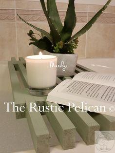 Reclaimed Wood Tub Caddy - Rustic Bathtub Tray- Barn wood Bathtub Caddy -Tub Shelf -Bathroom Decor -Bath - Spa -Home Design -Wedding Gift