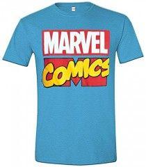 Camiseta Marvel Comics fondo azul