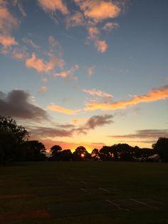 Beautiful morning sunrise over Cape Town.