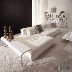 We feature original modern furniture and lighting designs from unique design driven brands - many with compelling value equations. Leather Sectional, Modern Sectional, Sectional Sofas, Modern Furniture, Home Furniture, Walnut Stain, Modern Fabric, Armchair, Sweet Home