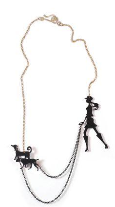 collier de chien noir walker - une promenade dans le parc - découpé au Laser bijoux acrylique (plexiglass) par lilianadesign sur Etsy https://www.etsy.com/fr/listing/120658592/collier-de-chien-noir-walker-une