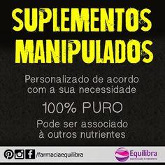 Você sabia que o seu suplemento pode ser manipulado? E o melhor.. do jeito que você realmente precisa?  Os suplementos manipulados são 100% puros... SAIBA MAIS.. -> http://instagram.com/p/xfECs0nHYo/?modal=true <-  #suplementos #nutricao #musculacao #fisiculturismo #treino #suplemento #wheyprotein