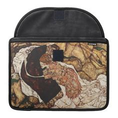 Death And The Maiden by Egon Schiele Sleeves For MacBook Pro Macbook Sleeve, Macbook Pro, Custom Laptop, Laptop Sleeves, Death, Symbols, Backpacks, Bags, Handbags