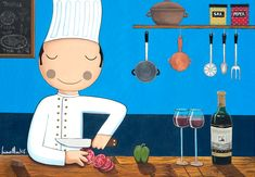 Cozinheiro Luciano Martins, Arte Pop, People Art, Family Guy, Artwork, Painting, Fictional Characters, Faces, Chefs