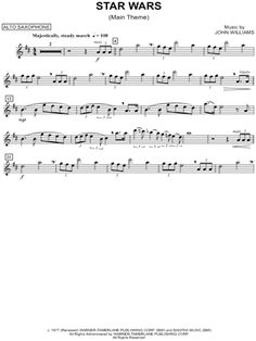 Star Wars (Main Theme) - Alto Sax sheet music from Star Wars More