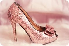 Pretty Dusty Rose Glitter Pump fashion pink shoes glitter floral heels stiletto pumps