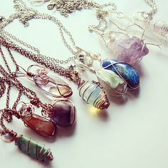 wire-wrapped stones & crystals