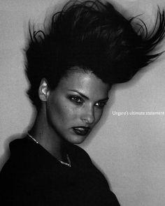 Black Jackets - Vogue UK (1994) Linda Evangelista by Juergen Teller