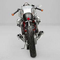 The blinker placement on this Moto Guzzi is rad.