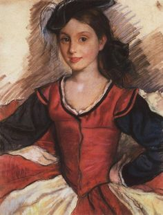 Daughter Tata in Dance Costume - Zinaida Serebriakova 1924