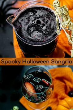 Not too sweet or overpowering this spooky Halloween Sangria Recipe is sure to please the adults on Halloween night featuring blackberry & black fruits. Halloween Punch, Halloween Cocktails, Theme Halloween, Halloween Dinner, Spooky Halloween, Halloween Treats, Happy Halloween, Red Sangria Recipes, Red Wine Sangria
