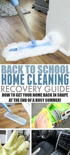 Our home always needs a little tune-up at the end of a busy, exciting summer. If you're in a similar situation when summer is over for your kids, here's your back to school home cleaning recovery guide! Deep Cleaning Tips, House Cleaning Tips, Car Cleaning, Diy Cleaning Products, Cleaning Solutions, Spring Cleaning, Bathroom Cleaning Hacks, Cleaning Room, Homekeeping