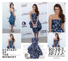 Lea Michele. | The Hollywood Reporter's Women In Entertainment Breakfast. by sarahutcherson on Polyvore featuring Oscar de la Renta, Office, Anita Ko, Hedi Slimane, GetTheLook and leamichele