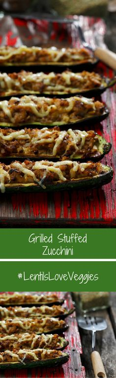 This stuffed zucchini is both filling and healthy.