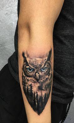 Tattoos 3d, Owl Tattoo Drawings, Wolf Tattoos, Trendy Tattoos, Forearm Tattoos, Animal Tattoos, Body Art Tattoos, Small Tattoos, Tattoos For Guys