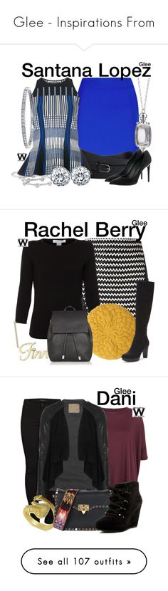 """Glee - Inspirations From"" by wearwhatyouwatch ❤ liked on Polyvore featuring La Perla, Emporio Armani, Monica Rich Kosann, London Road, BERRICLE, Roland Mouret, Louis Vuitton, television, wearwhatyouwatch and Zoe Karssen"