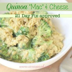 Sara Spisak : 21 DAY FIX Approved -- Quinoa Mac 'n Cheese