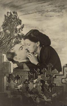 "Grete Stern. Dream No. 22: Last Kiss. 1949. Gelatin silver print. 19 1/2 x 12 3/8"" (49.5 x 31.5 cm). Vital Projects Fund, Robert B. Menschel. 1036.2013. © 2016 Galería Jorge Mara-La Ruche. Photography"