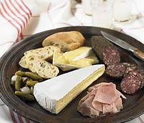Ile de France Brie and Charcuterie Platter by Kathy Gunst