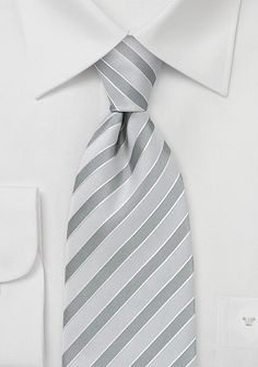 Striped Silk Kids Tie Silver and White - Parsley has designed yet another luxurious neck tie for your child. This silver grey and white striped tie is a great staple because it is so versatile. Gold Tie, Silver Tie, Groomsmen Accessories, Kids Ties, Wedding Men, Wedding Ideas, Wedding Things, Wedding Stuff, Bush Wedding