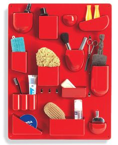 A Red Deskside Storage Unit Inspired By The Swedish Suburbs
