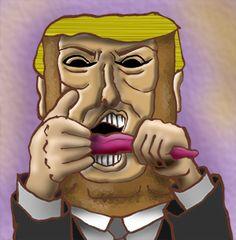 話題の人の似顔絵BLOG: 暴言繰り返す共和党の大富豪。