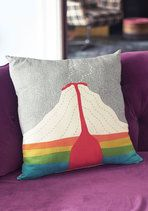 You won't have to dig deep in order to find affection for this volcano-printed pillow! You're smitten with this rainbow-hued accent pillow, which showcases a cross-section of a volcano atop its grey silhouette. Nestled in your cultivated collection of other fab decor items, this 'haute' piece - a ModCloth-exclusive - is overflowing with charm!