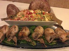Pöytä on katettu! Pesto, Chicken, Food, Red Peppers, Essen, Meals, Yemek, Eten, Cubs
