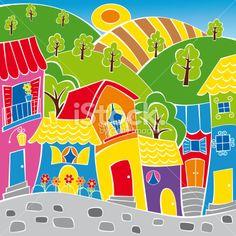 Neighborhood 2 Royalty Free Stock Vector Art Illustration