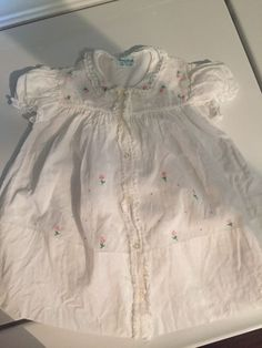 Vintage Baby Girl Dress Size 9 Months Hand Made Philippines 1940's #Handmade