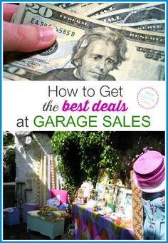 You can save up to off at garage sales! Learn my best yard sale negotiation tips and save money. Personal Finance tips Make Money Online Surveys, Ways To Earn Money, Way To Make Money, How To Get, Money Tips, Garage Sale Tips, Budgeting Tools, Term Life, Tips & Tricks