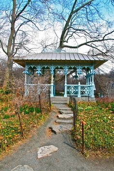 The Ladies Pavillion in Central Park was originally used as a place for ladies to wait for a trolley.