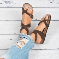 Ankle Strap Buckle Flip Flop Gladiator Thong Flat Sandals – Veooy Womens Plus Size Trends,Latest Shoes, sandals,Bags Style Online Shopping Spring Sandals, Summer Shoes, Spring Shoes, Beach Sandals, Spring Clothes, Winter Shoes, Beach Shoes, Outfit Summer, Cute Shoes