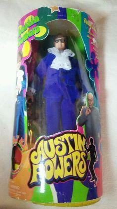 Austin Powers Action Figure Fully Poseable Shagadelic 1998 Trendmasters doll  #Trendmasters