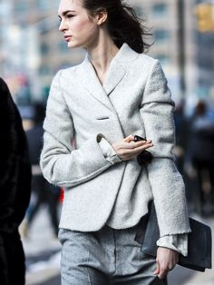 great greys. #LauraLove in NYC.