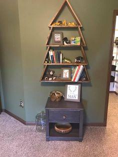 49 Trendy diy bookshelf kids baby tree shelf - Sites new Tree Bookshelf, Tree Shelf, Bookshelves Kids, Baby Bookshelf, Tree Wall, Baby Boy Rooms, Baby Boy Nurseries, Baby Room, Modern Nurseries